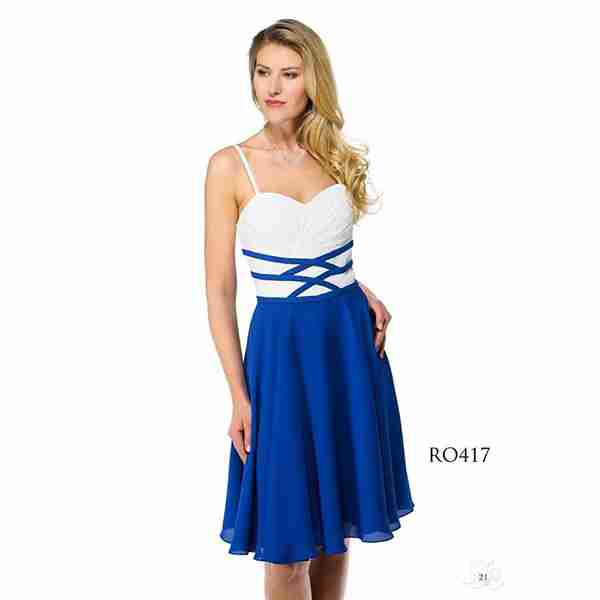 Blue And White Dress Image
