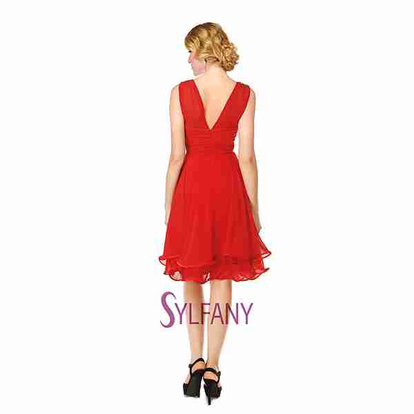 Red Dress Back Image