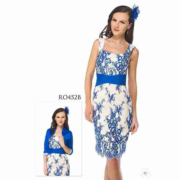 White and Blue Dress Image