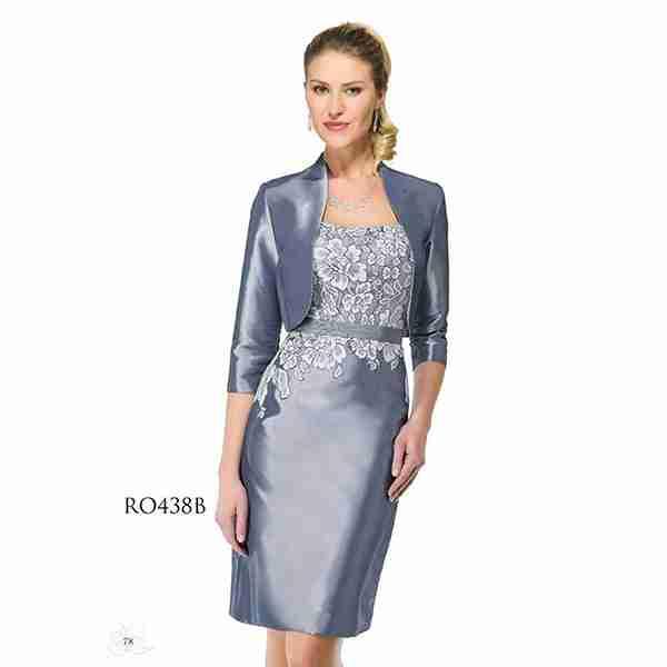 Metalic Blue Dress Image
