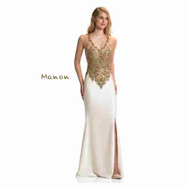 Manon White and Gold Dress Image