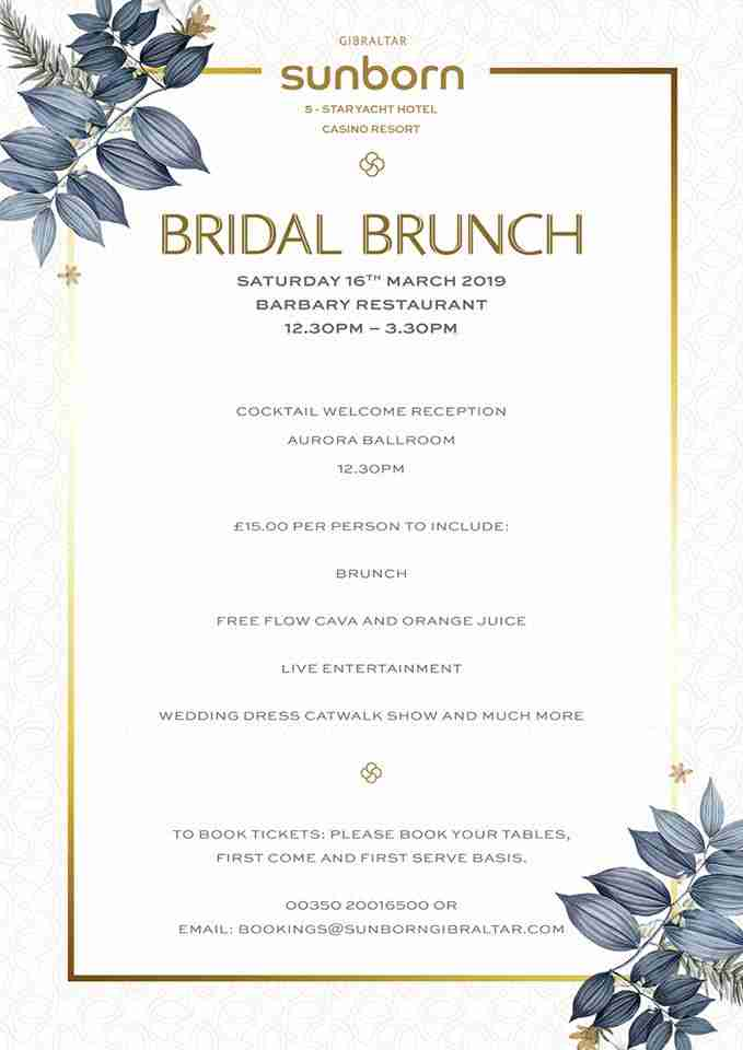 Sunborn Bridal Brunch March 2019